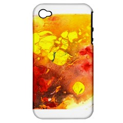 Fire, Lava Rock Apple Iphone 4/4s Hardshell Case (pc+silicone)