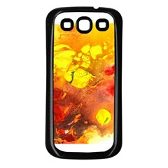 Fire, Lava Rock Samsung Galaxy S3 Back Case (black)