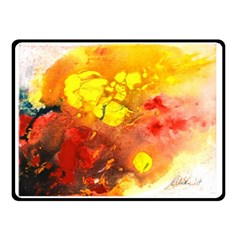 Fire, Lava Rock Double Sided Fleece Blanket (Small)