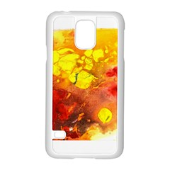Fire, Lava Rock Samsung Galaxy S5 Case (white)