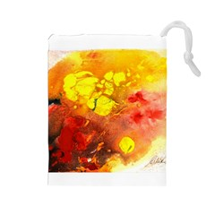Fire, Lava Rock Drawstring Pouches (Large)