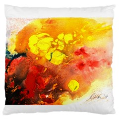 Fire, Lava Rock Standard Flano Cushion Cases (One Side)