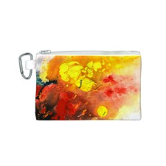 Fire, Lava Rock Canvas Cosmetic Bag (S)
