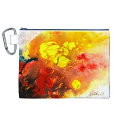 Fire, Lava Rock Canvas Cosmetic Bag (XL)