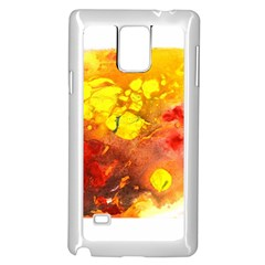 Fire, Lava Rock Samsung Galaxy Note 4 Case (white)