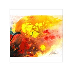 Fire, Lava Rock Small Satin Scarf (Square)