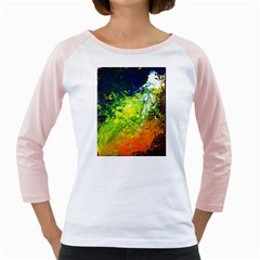 Abstract Landscape Girly Raglans