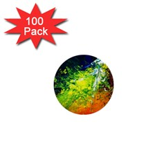 Abstract Landscape 1  Mini Buttons (100 Pack)