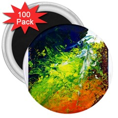 Abstract Landscape 3  Magnets (100 Pack)