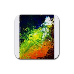 Abstract Landscape Rubber Square Coaster (4 Pack)
