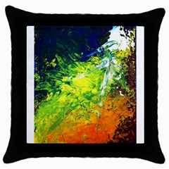 Abstract Landscape Throw Pillow Cases (black)