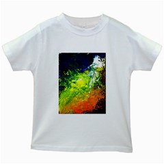 Abstract Landscape Kids White T Shirts