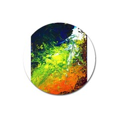 Abstract Landscape Magnet 3  (round)