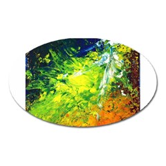 Abstract Landscape Oval Magnet