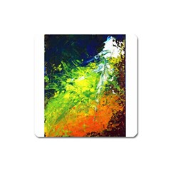 Abstract Landscape Square Magnet