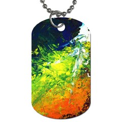 Abstract Landscape Dog Tag (two Sides)