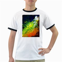 Abstract Landscape Ringer T-Shirts