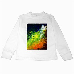 Abstract Landscape Kids Long Sleeve T-Shirts