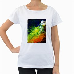 Abstract Landscape Women s Loose Fit T Shirt (white)