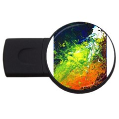 Abstract Landscape Usb Flash Drive Round (4 Gb)