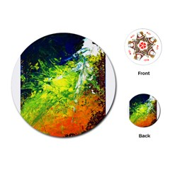 Abstract Landscape Playing Cards (round)