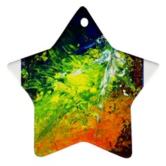 Abstract Landscape Star Ornament (two Sides)