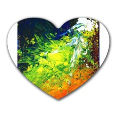 Abstract Landscape Heart Mousepads