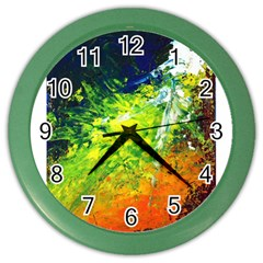 Abstract Landscape Color Wall Clocks