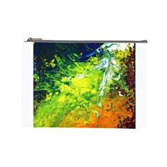 Abstract Landscape Cosmetic Bag (large)