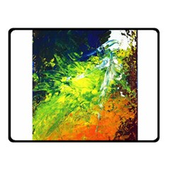 Abstract Landscape Fleece Blanket (small)