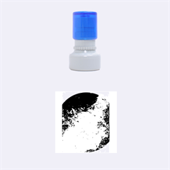 Abstract Landscape Rubber Round Stamps (Small)