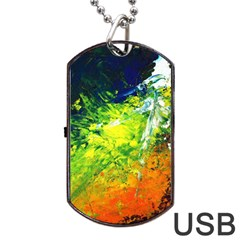 Abstract Landscape Dog Tag Usb Flash (two Sides)