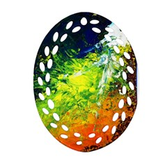 Abstract Landscape Oval Filigree Ornament (2 Side)