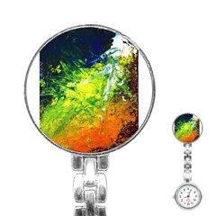 Abstract Landscape Stainless Steel Nurses Watches