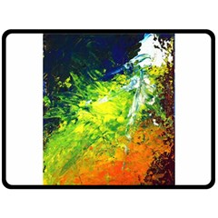 Abstract Landscape Double Sided Fleece Blanket (Large)