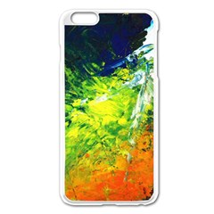 Abstract Landscape Apple Iphone 6 Plus Enamel White Case