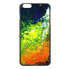 Abstract Landscape Apple Iphone 6 Plus Black Enamel Case