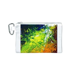 Abstract Landscape Canvas Cosmetic Bag (S)
