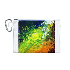 Abstract Landscape Canvas Cosmetic Bag (M)