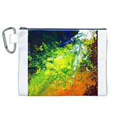 Abstract Landscape Canvas Cosmetic Bag (XL)