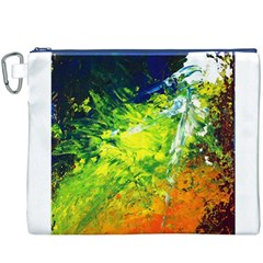 Abstract Landscape Canvas Cosmetic Bag (XXXL)
