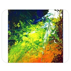 Abstract Landscape Double Sided Flano Blanket (Medium)