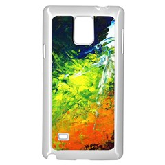 Abstract Landscape Samsung Galaxy Note 4 Case (White)