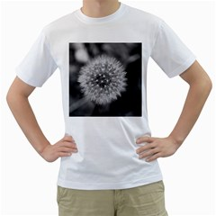 Modern Daffodil Seed Bloom Men s T-Shirt (White) (Two Sided)