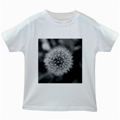 Modern Daffodil Seed Bloom Kids White T Shirts