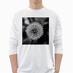 Modern Daffodil Seed Bloom White Long Sleeve T-Shirts