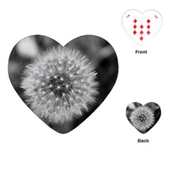 Modern Daffodil Seed Bloom Playing Cards (heart)