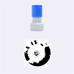 Modern Daffodil Seed Bloom Rubber Round Stamps (Small)