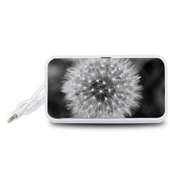Modern Daffodil Seed Bloom Portable Speaker (white)