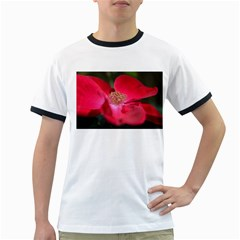 Bright Red Rose Ringer T-Shirts